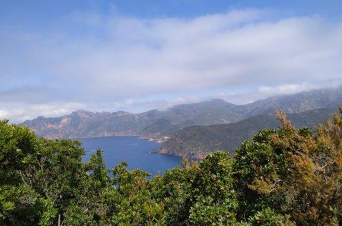 Panoranma wybrzeża Korsyki