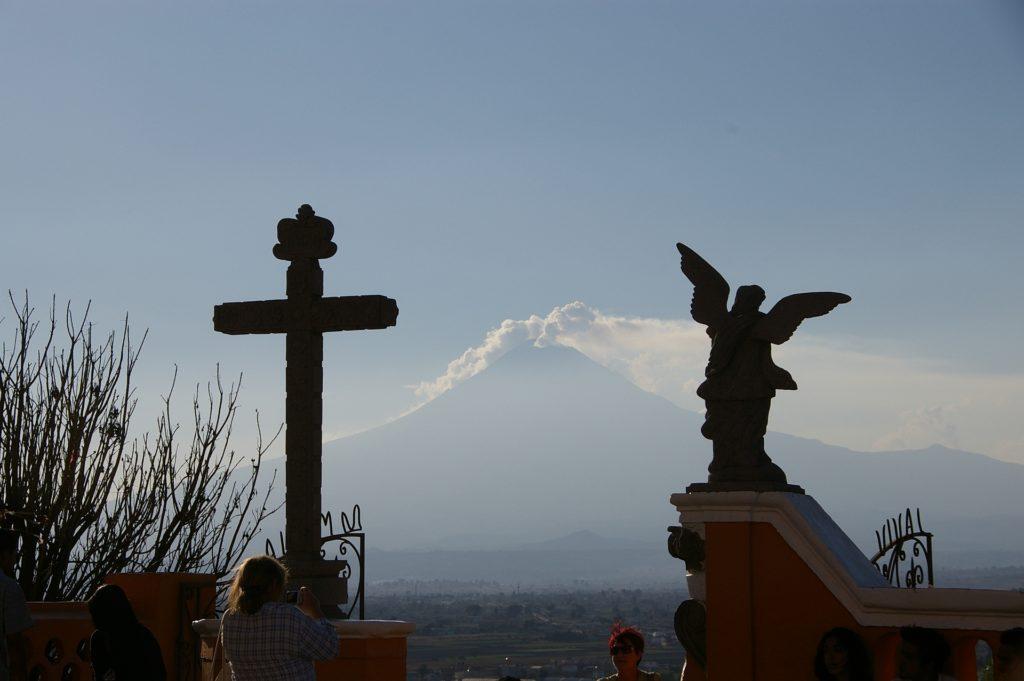 Meksyk -Cholula-wulkan Popo